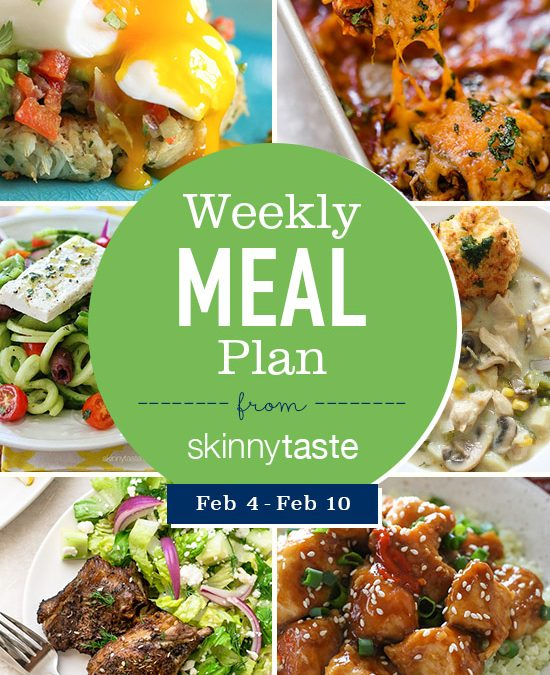 Skinnytaste Meal Plan (February 4-February 10)