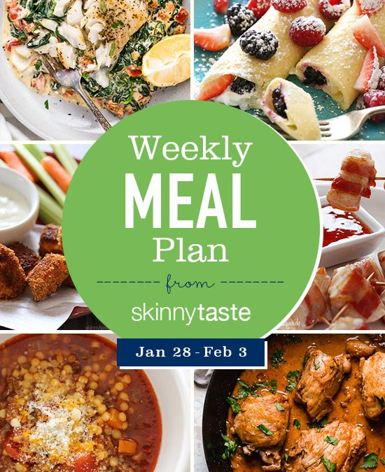 Skinnytaste Meal Plan (January 28-February 3)