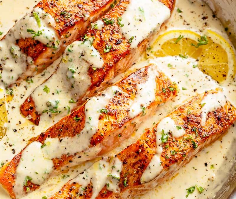 How To Cook Creamy Garlic Butter Salmon