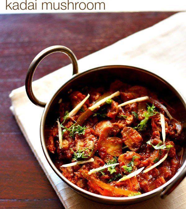 Kadai Mushroom Dry & Gravy