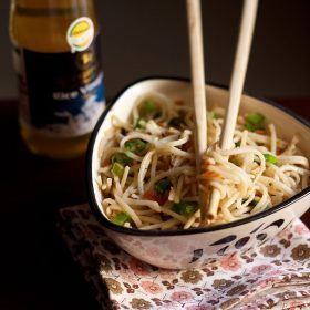 Hakka Noodles (With Veggies)