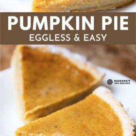 Pumpkin Pie (Eggless Recipe)