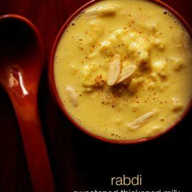 Rabdi Recipe – Sweet Thickened Milk